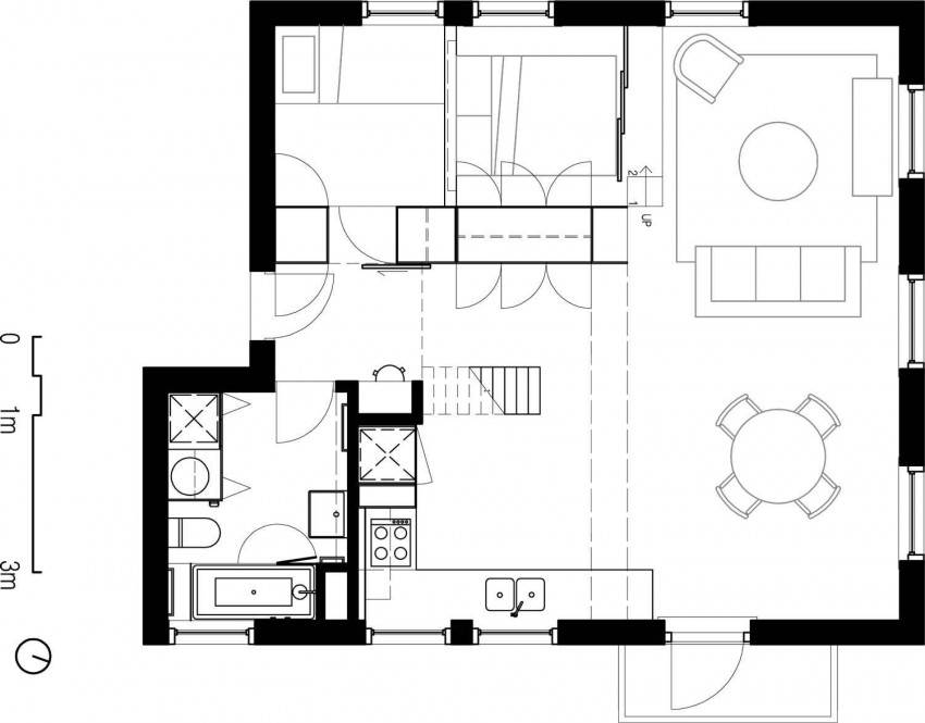 Flinders lane apartment by clare cousins architects for 16 brookers lane floor plans