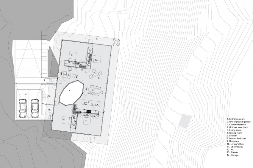 Courtyard House by NO ARCHITECTURE (12)