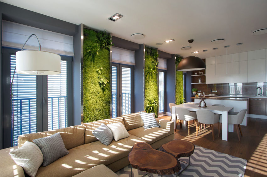 Apartment with Wall Gardens by SVOYA Studio (6)