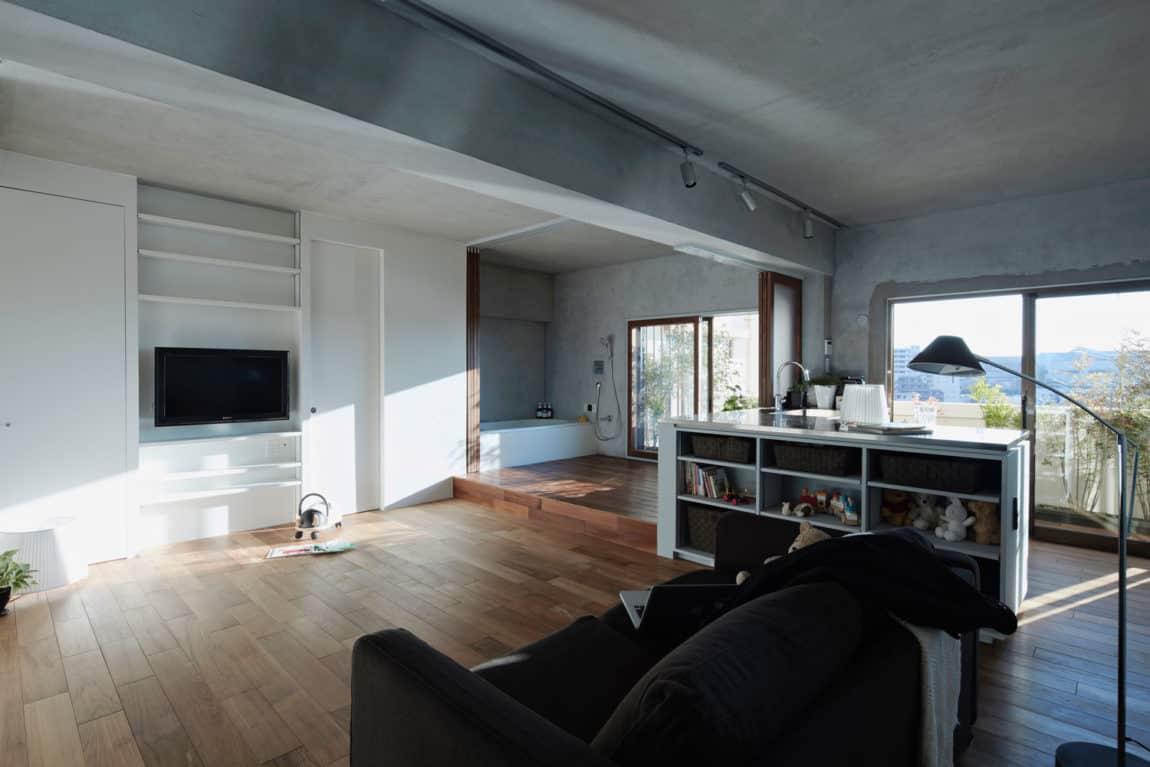 Bath Kitchen House by Takeshi Shikauchi Architect Office (2)