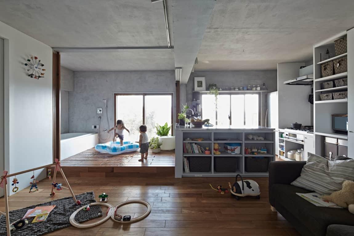 Bath Kitchen House by Takeshi Shikauchi Architect Office (6)