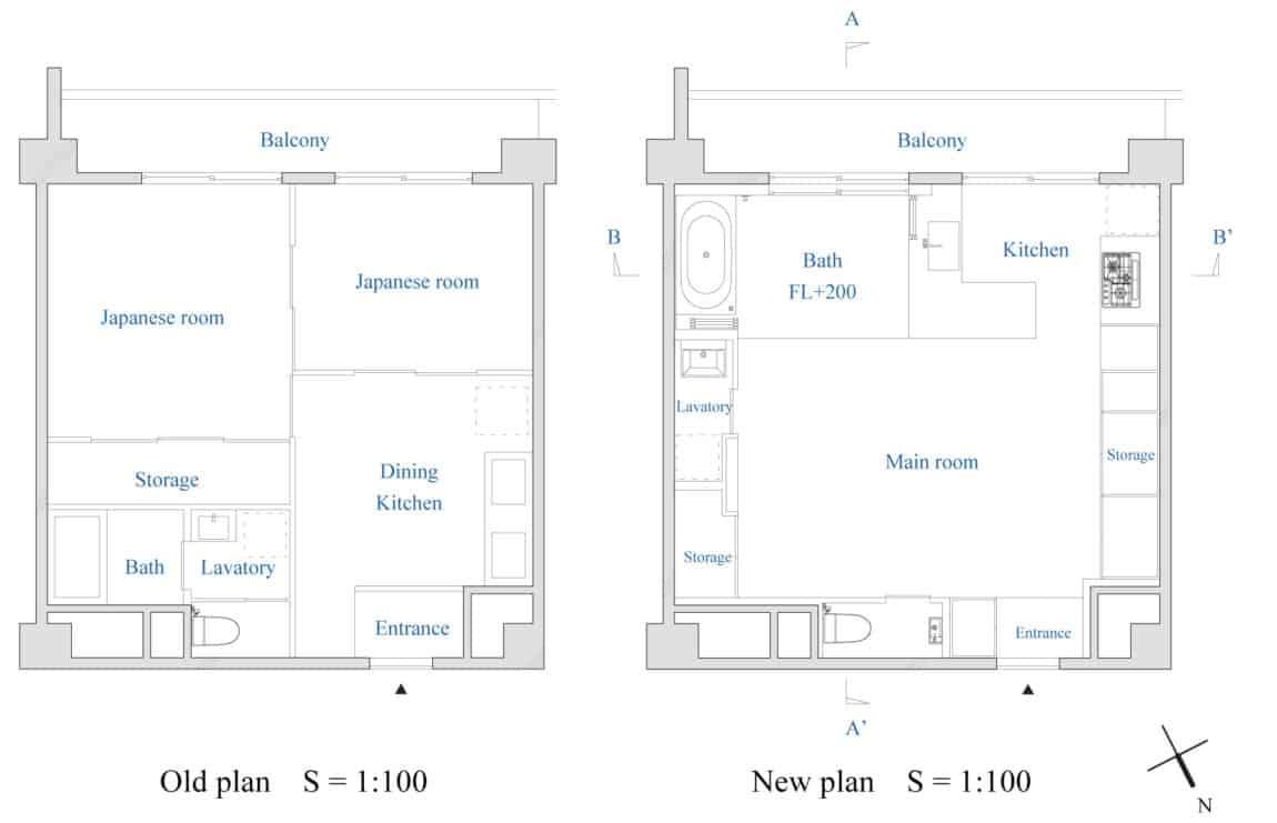 Bath Kitchen House by Takeshi Shikauchi Architect Office (13)