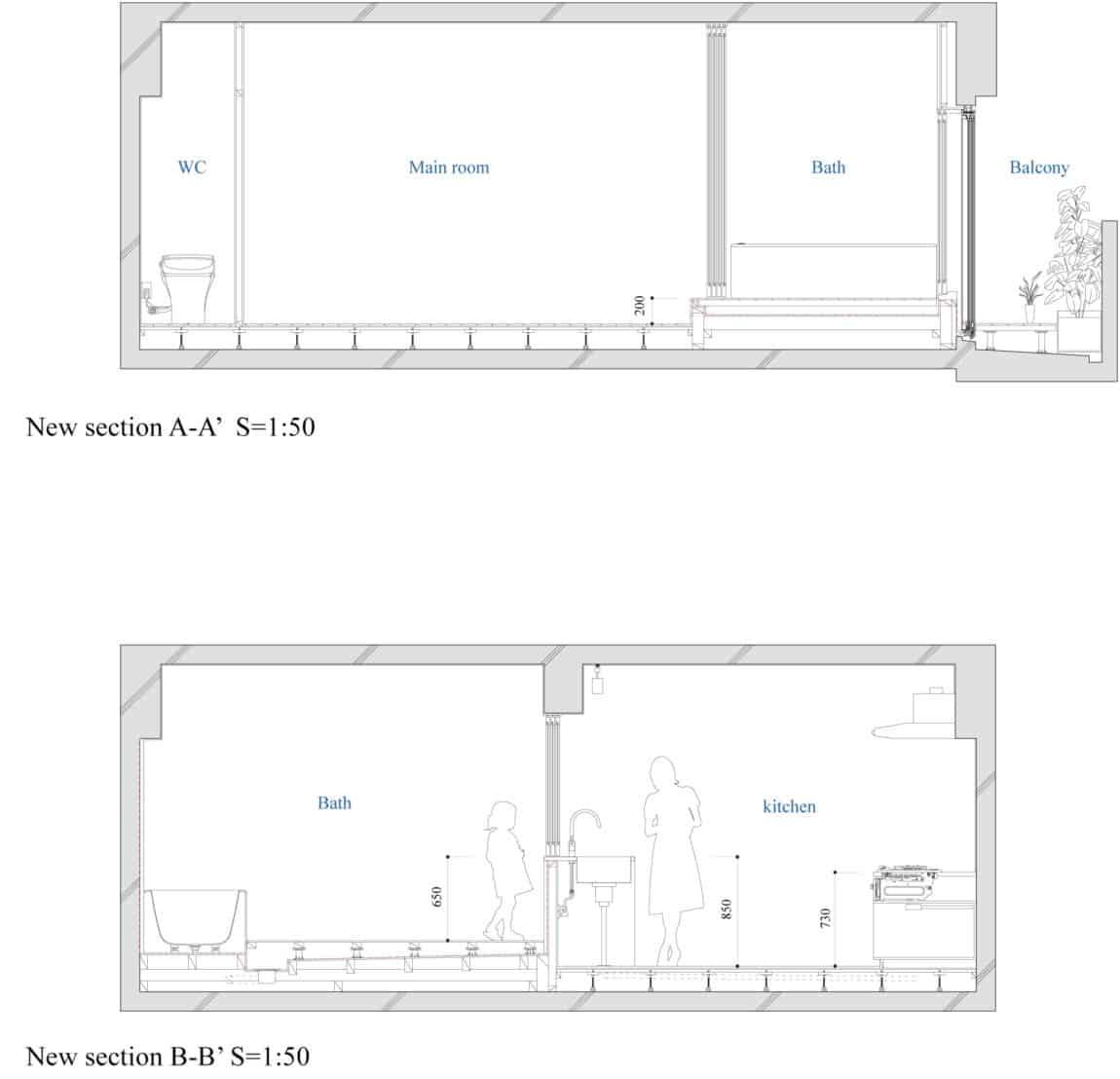 Bath Kitchen House by Takeshi Shikauchi Architect Office (14)