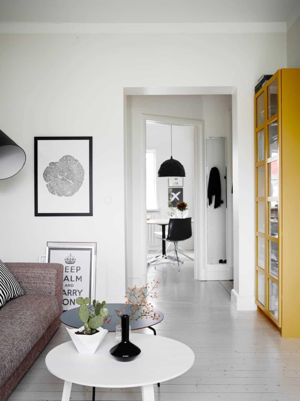 Scandinavian interior design apartment in kungsladugårds