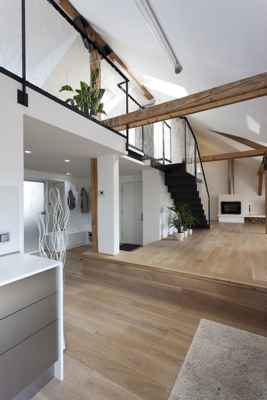 Attic Loft Reconstruction By B 178 Architecture