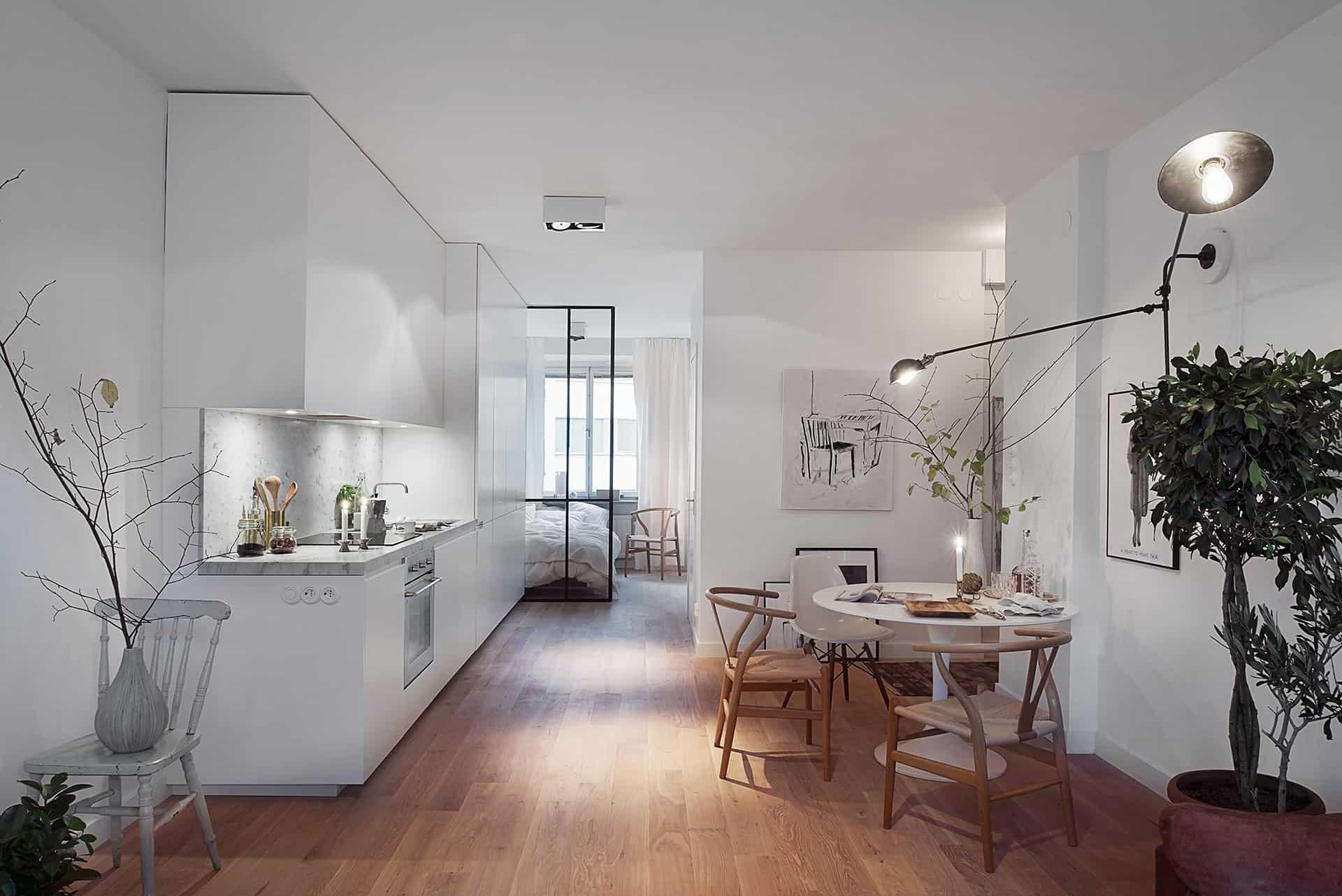 Scandinavian Design: Cozy One Bedroom Apartment in Stockholm