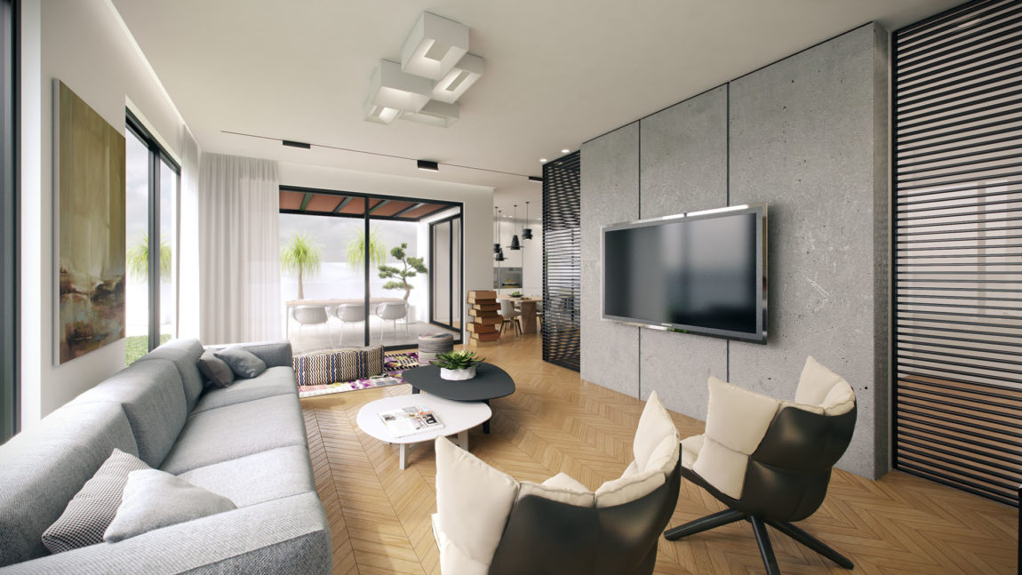 Residence in Ramat Sharon by Tal Goldsmith Fish (9)
