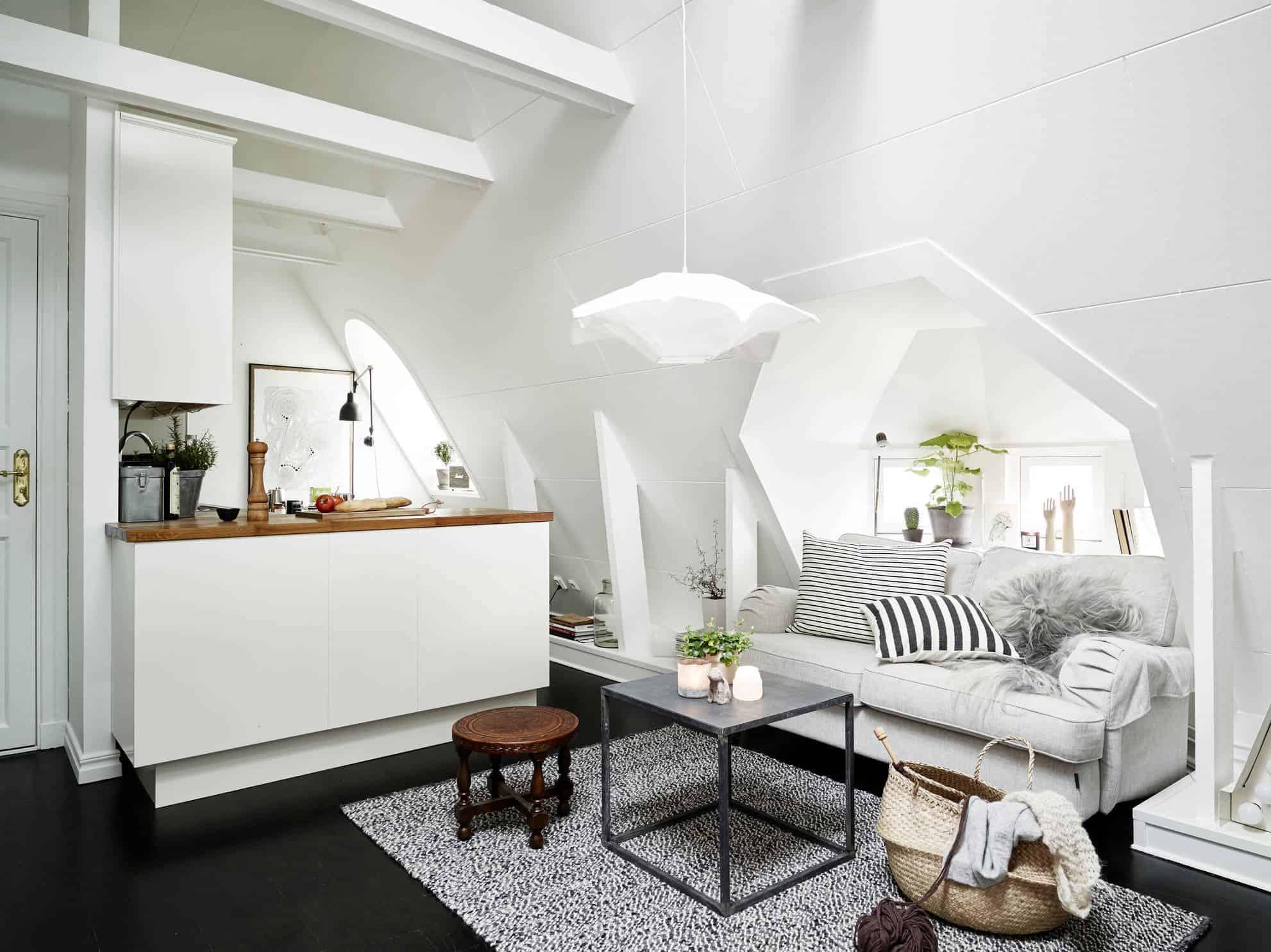 Scandinavian Interior Design: Attic Apartment in Vasastan