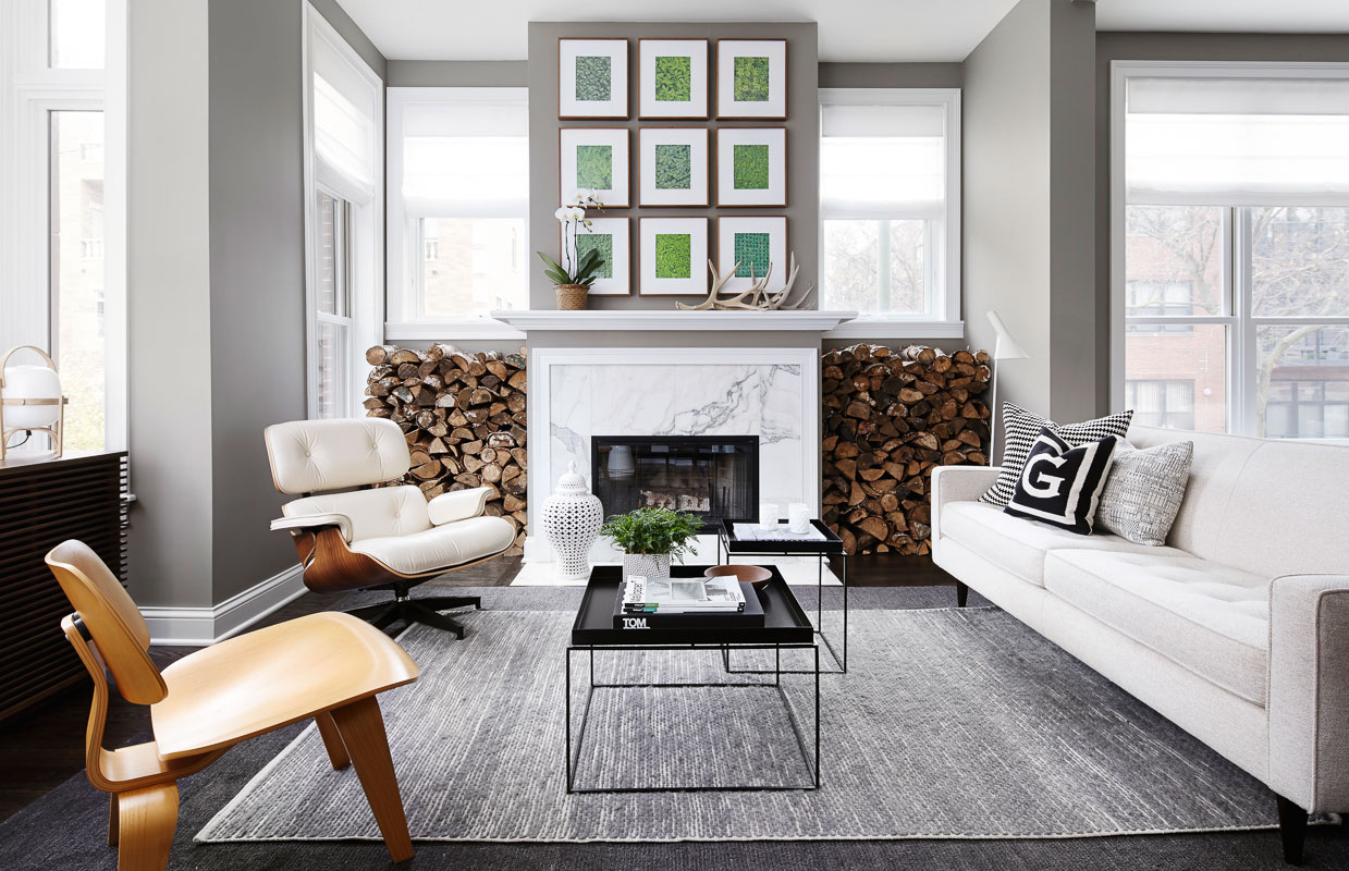 Chic and modern townhouse in chicago by gabriel fontes de for Interieur chic maison
