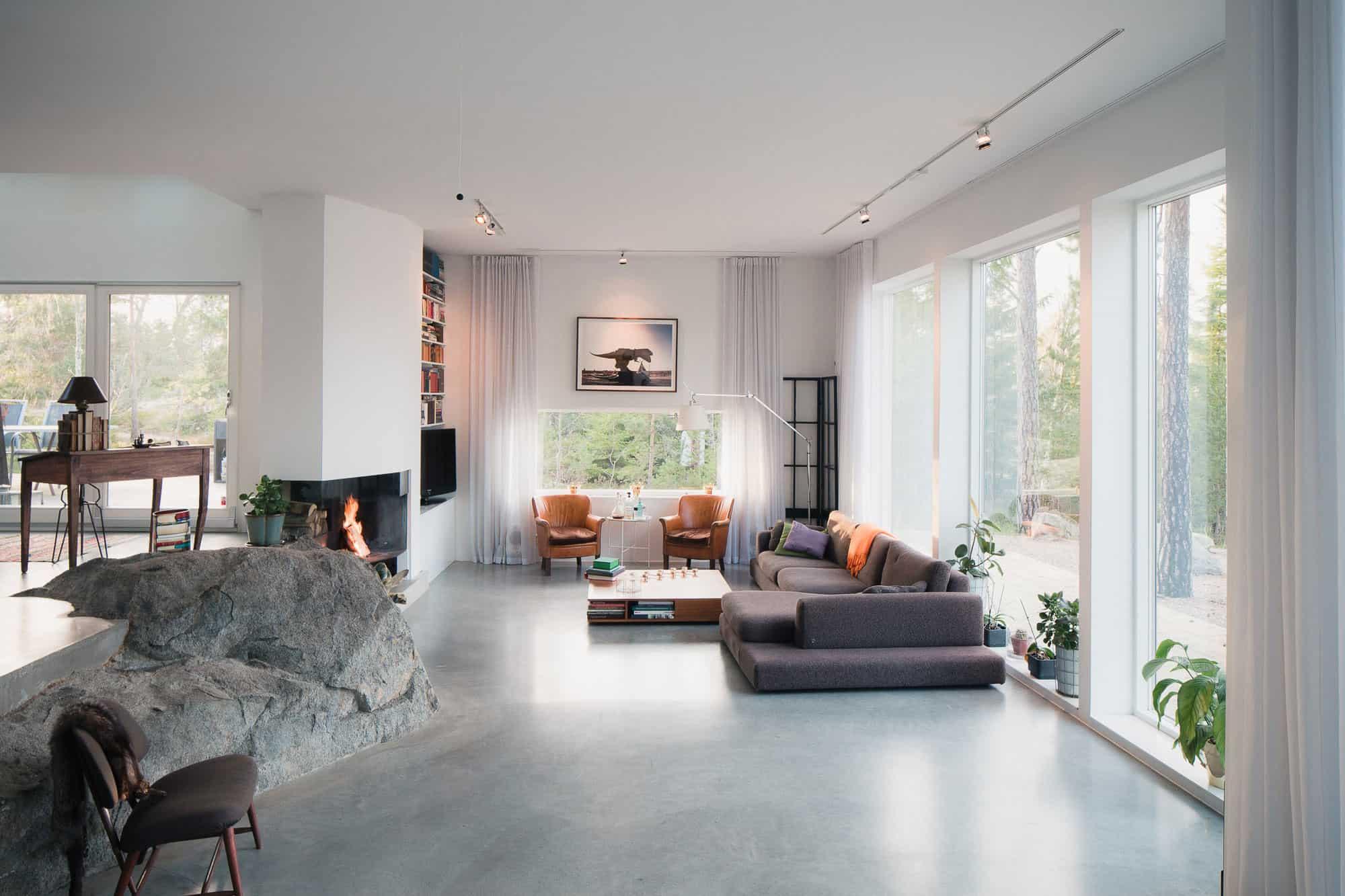 Modern home in ingar sweden for Design decoratie woonkamer