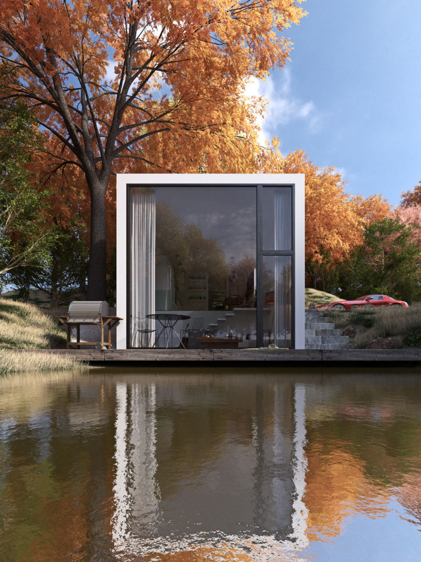 Lake house by paulo quartilho for Building a small lake