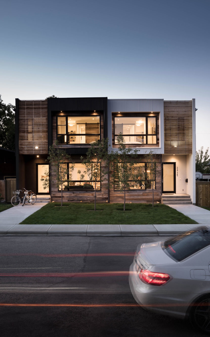 Project b95 a modern infill in calgary by beyond homes for Modern home projects