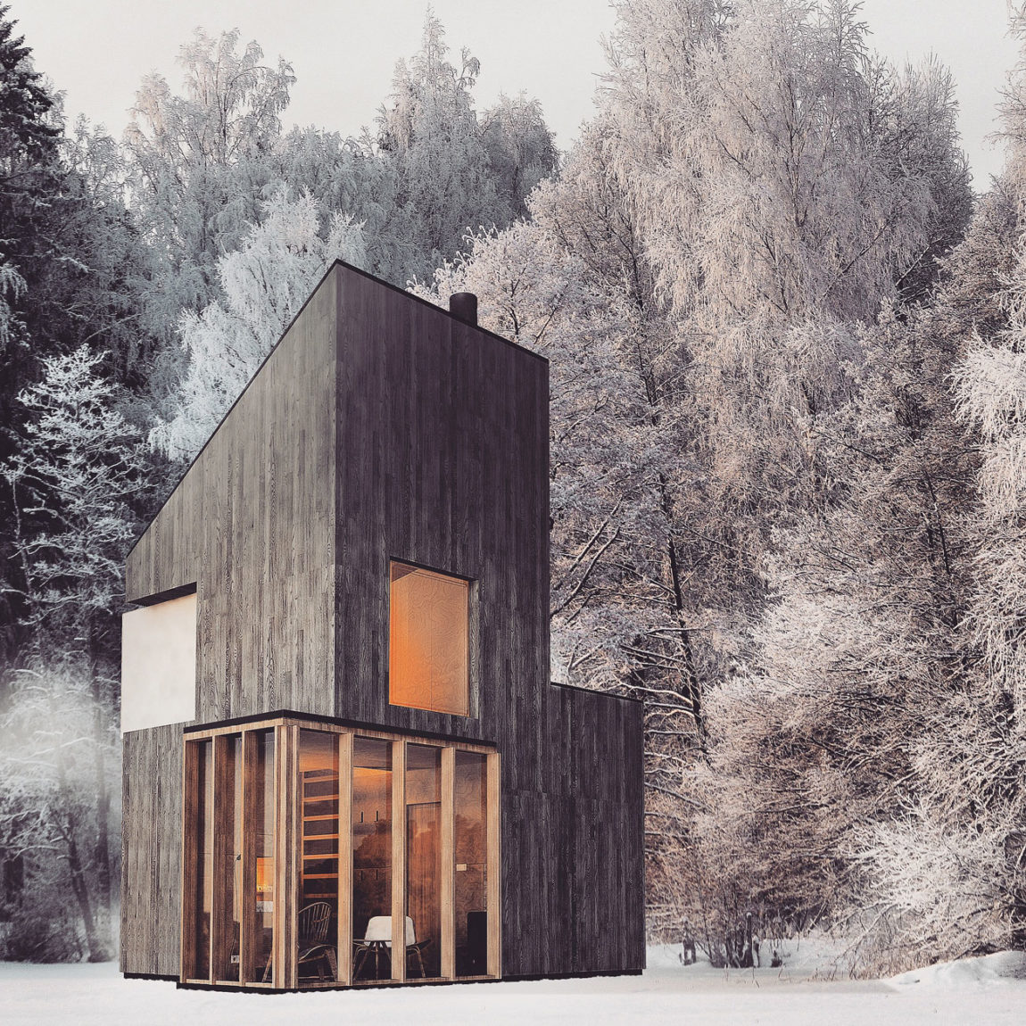 A Modern Winter Shelter by FO4A Architecture (2)