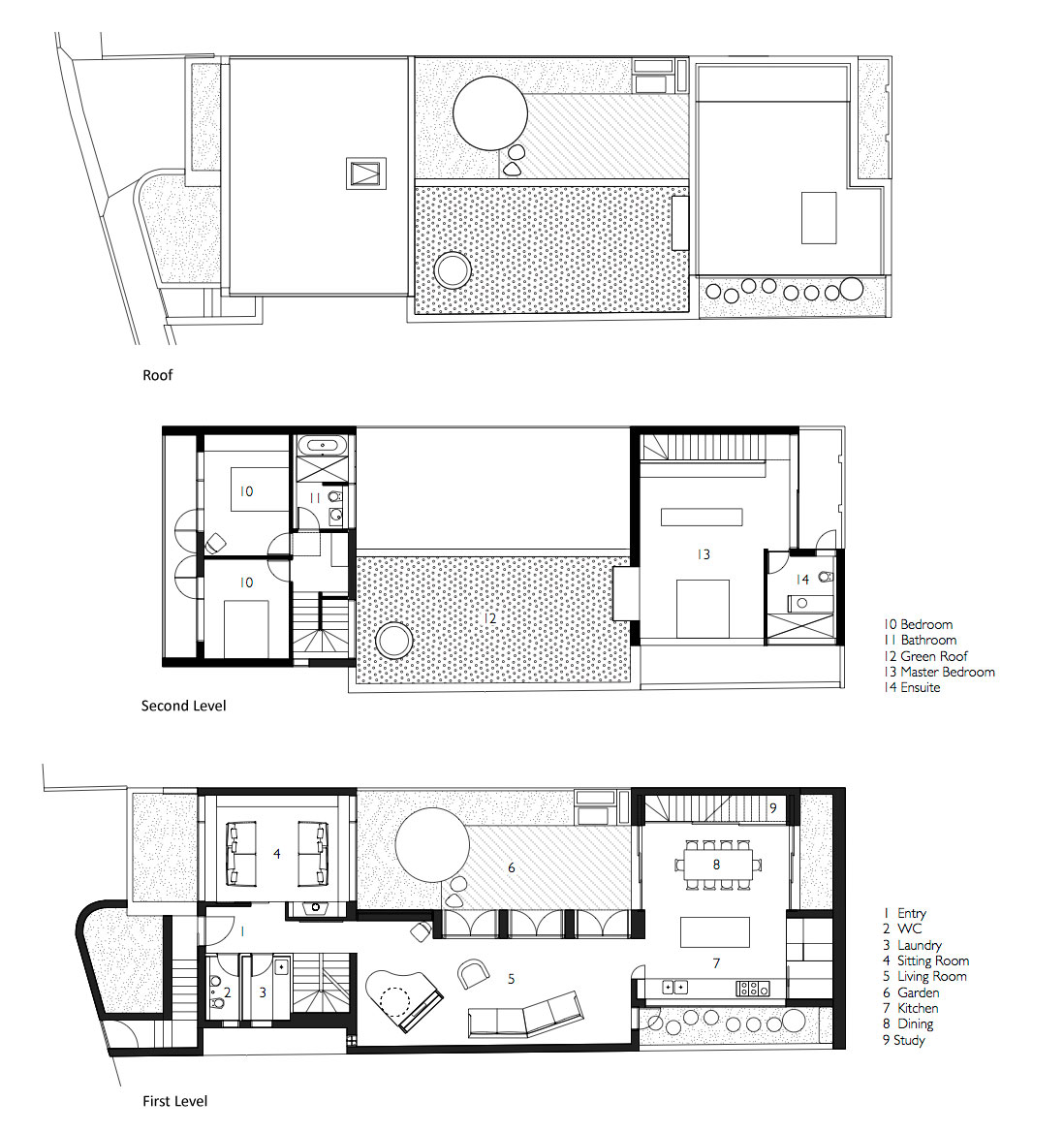 Courtyard House by Aileen Sage Architects (12)