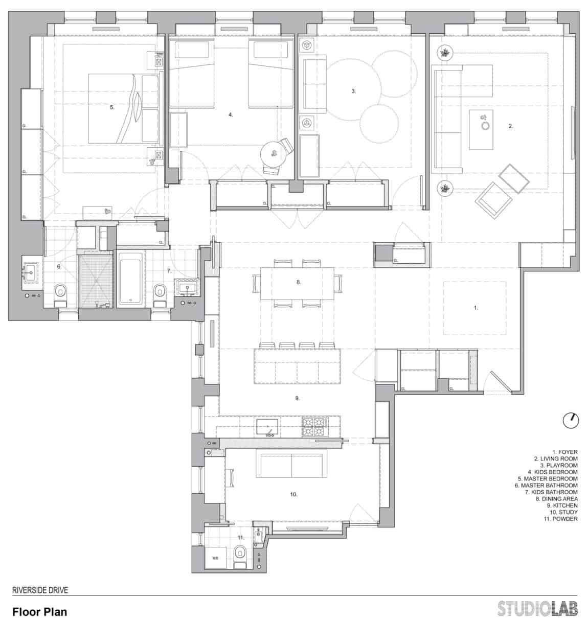 Riverside Drive Apartment by StudioLab (13)