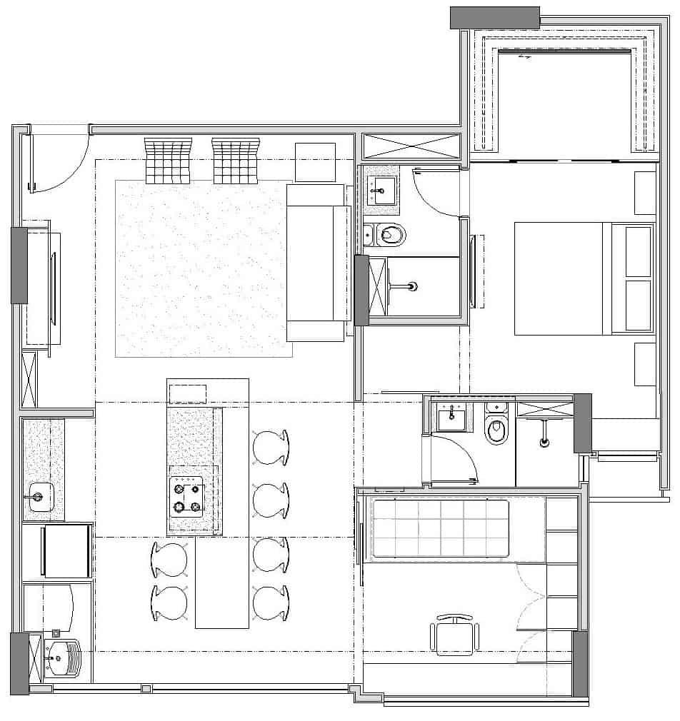 Apartamento trama by semerene arquitetura interior 21