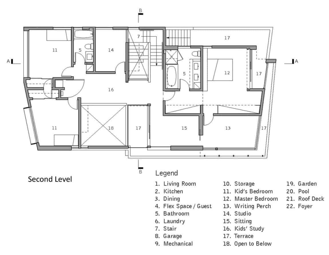 Holleb Residence by John Friedman Alice Kimm Architects (12)