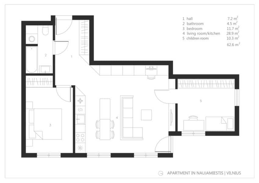 Apartment in Vilnius by Normundas Vilkas (14)
