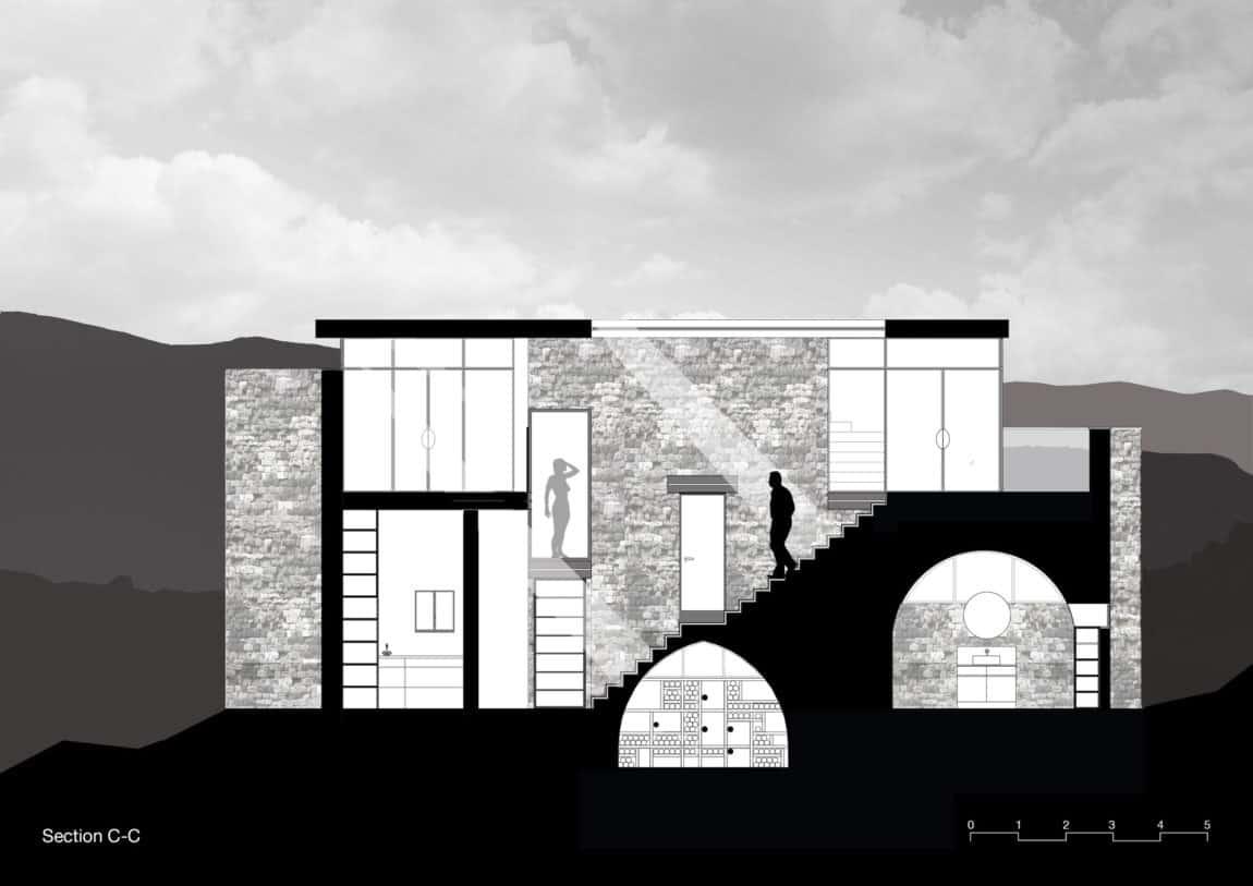 Stone House Conversion by Henkin Shavit Architecture (30)