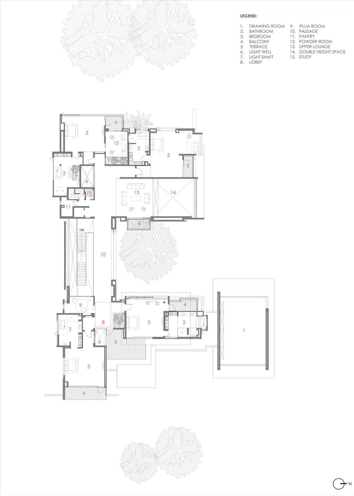 Three Trees House by DADA & Partners (23)