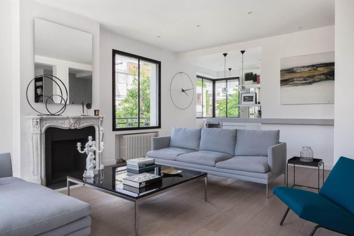 elegant home re designed by agence fr d ric flanquart. Black Bedroom Furniture Sets. Home Design Ideas