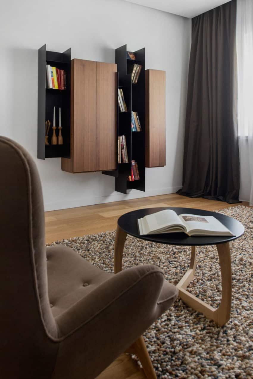 Tikhonov Dsgn Creates Tiny Apartment Interior in Moscow (8)