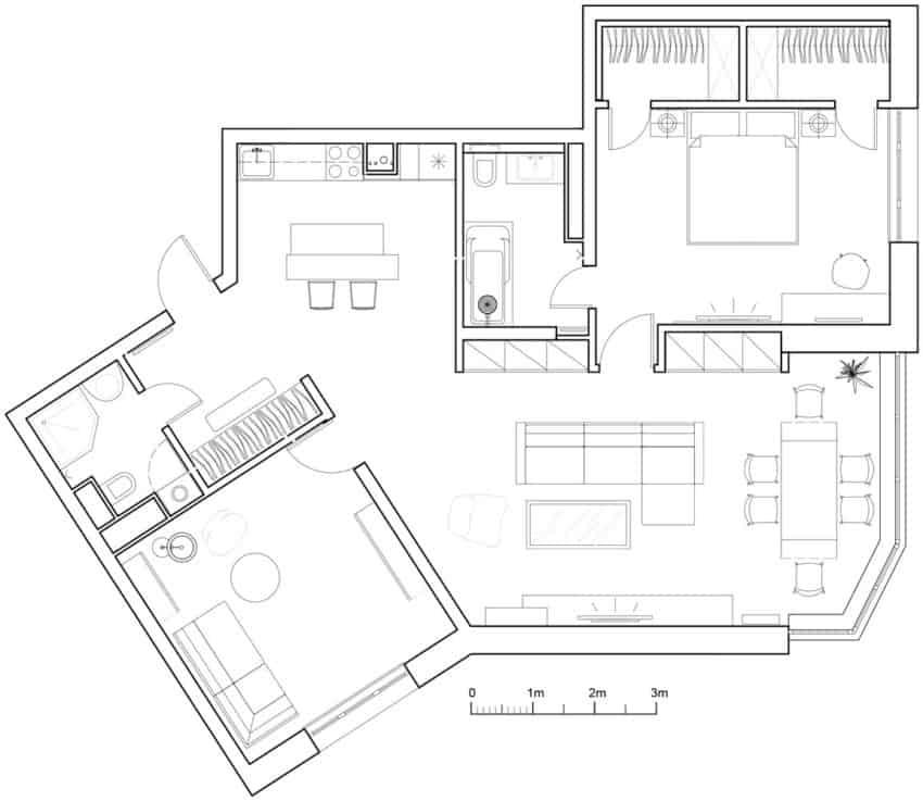 Tikhonov Dsgn Creates Tiny Apartment Interior in Moscow (21)
