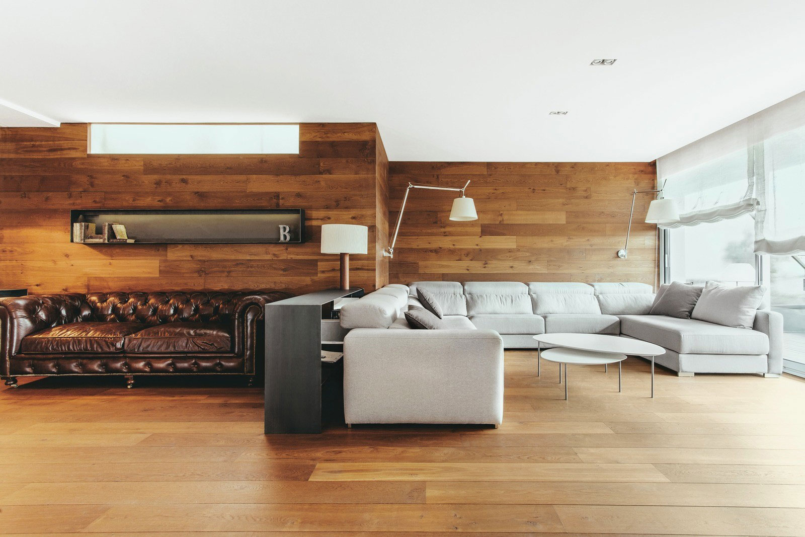 Sophisticated, Mostly-Wood Interior in Barcelona