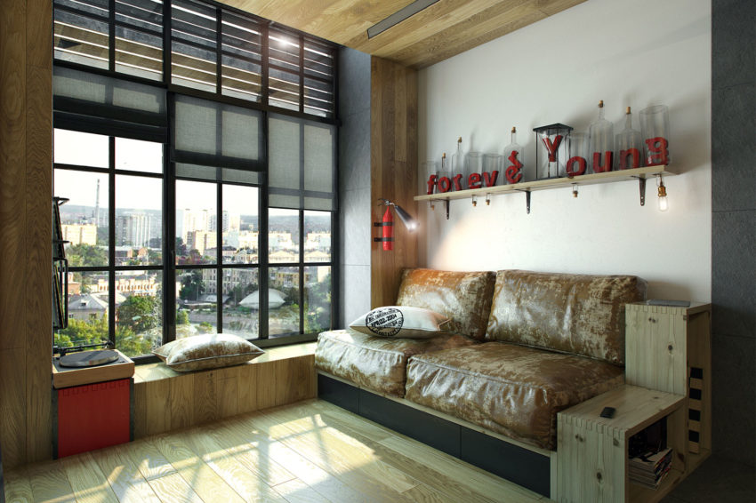 Teeny Tiny Apartment in Kharkov by One Studio (2)