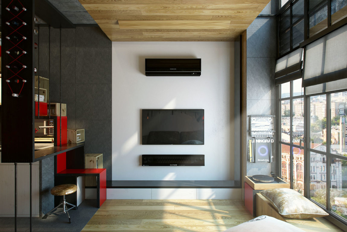 Teeny Tiny Apartment in Kharkov by One Studio (4)
