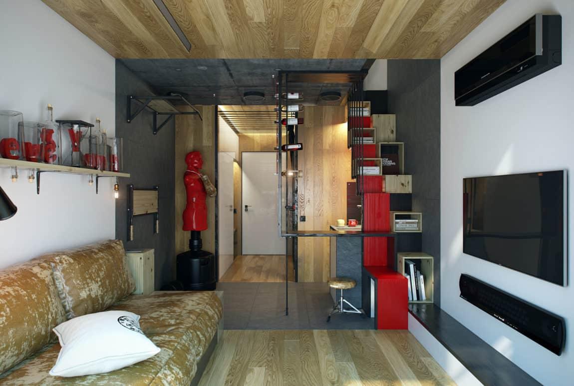Teeny Tiny Apartment in Kharkov by One Studio (6)