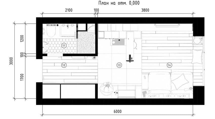 Teeny Tiny Apartment in Kharkov by One Studio (19)