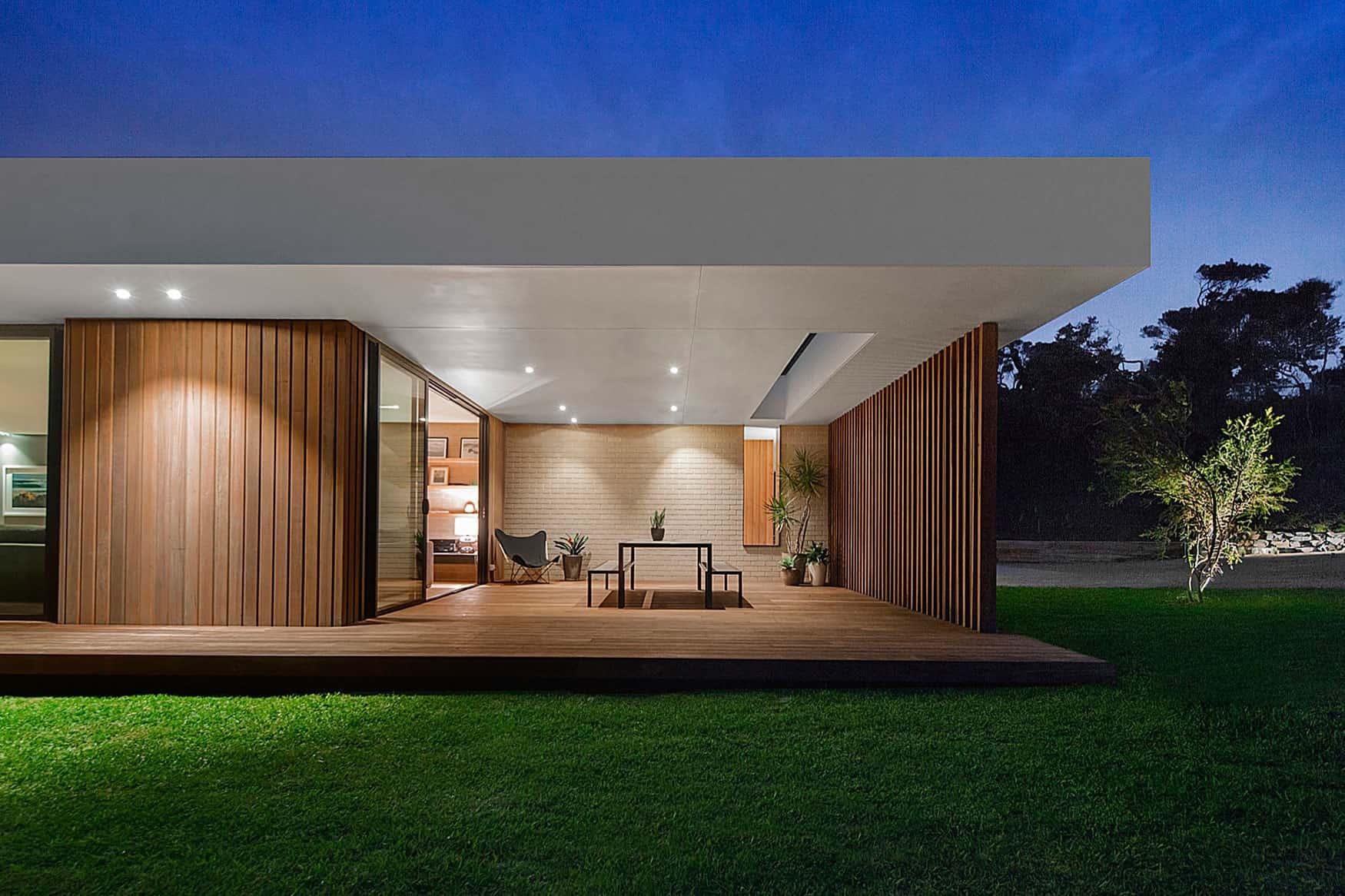 Inform design a timber and glass pavilion in australia - Suelos casas modernas ...