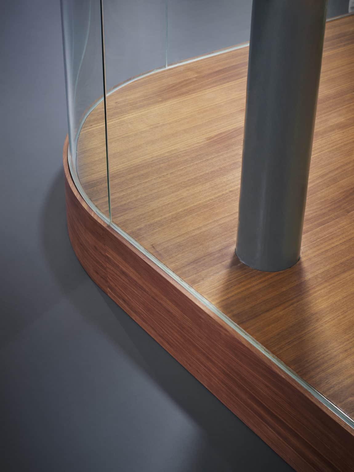Glass & Walnut Loft by CUT Architectures (6)