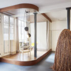 Glass & Walnut Loft by CUT Architectures (7)