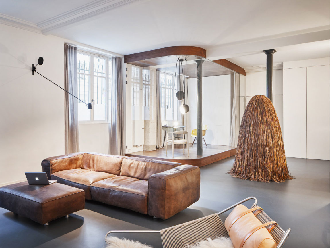 Glass & Walnut Loft by CUT Architectures (8)