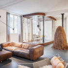 Glass & Walnut Loft by CUT Architectures (8)