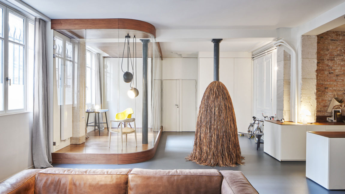 Glass & Walnut Loft by CUT Architectures (9)