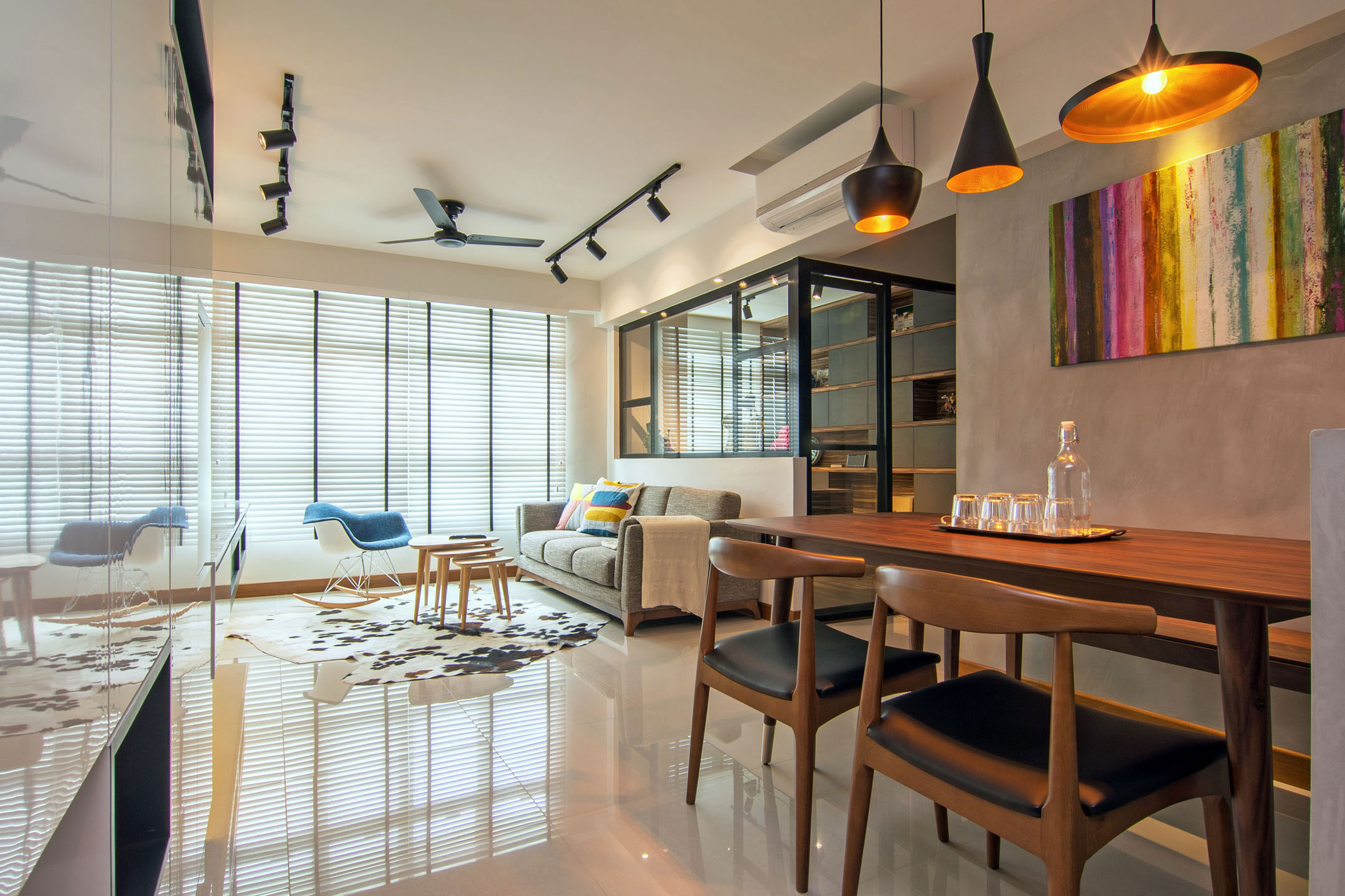 Stylish Home for a Young Couple in Singapore