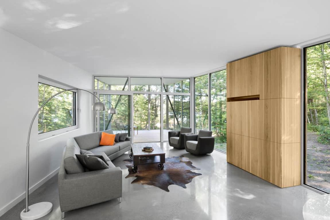 House on Lac Grenier by Paul Bernier Architecte (7)