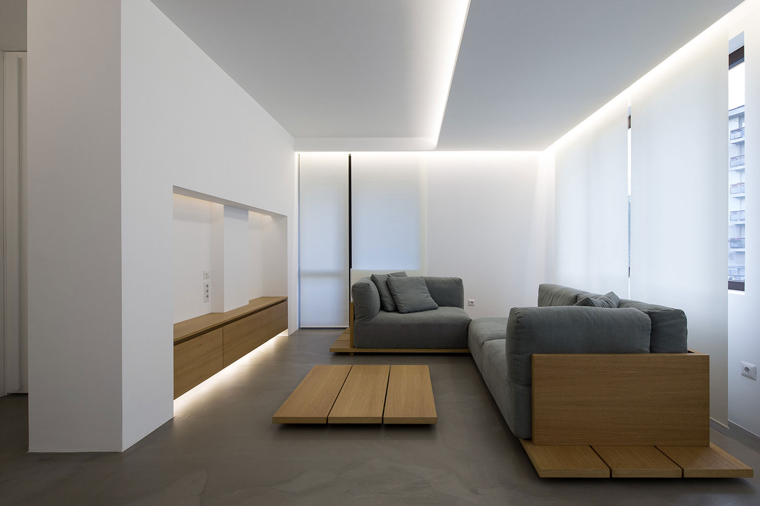 Elia nedkov designs a minimalist interior in sofia bulgaria for Minimalist apartment decor