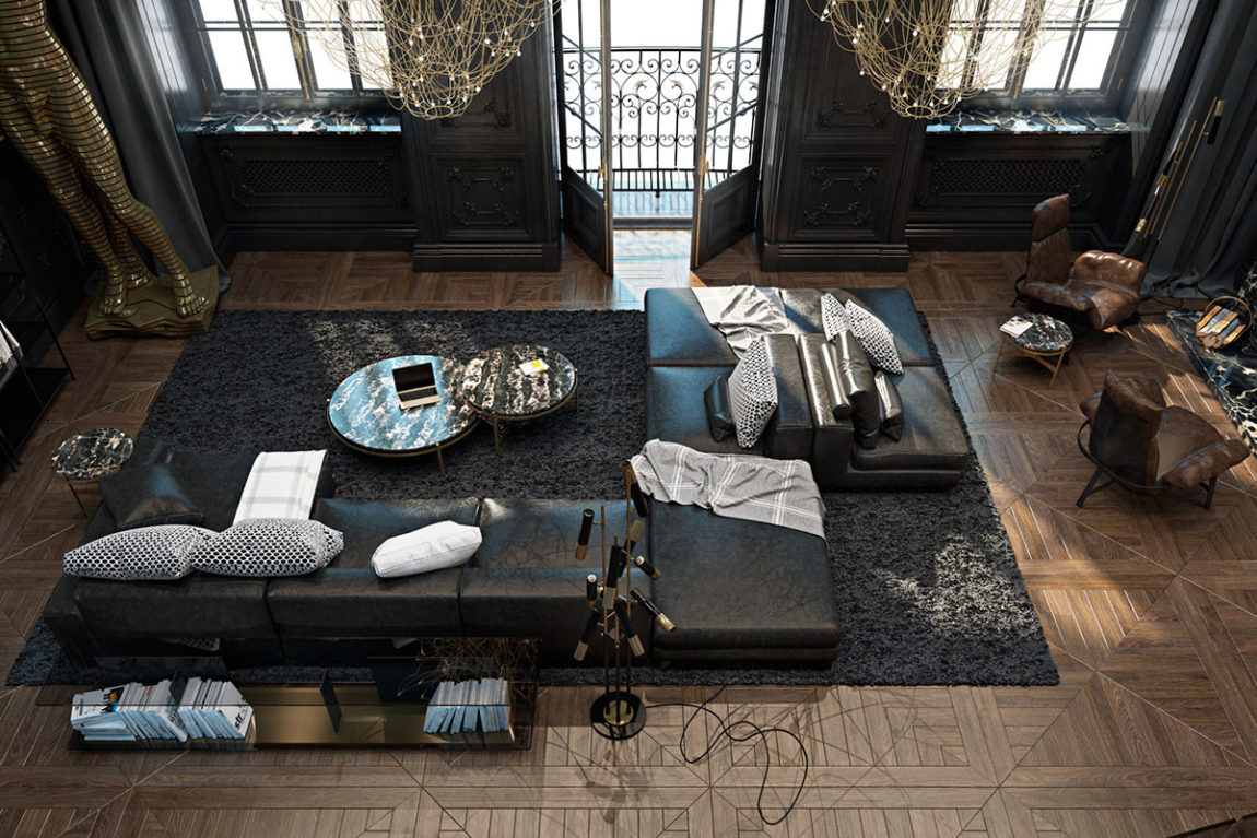 Paris Apartment by Iryna Dzhemesiuk & Vitaly Yurov (2)