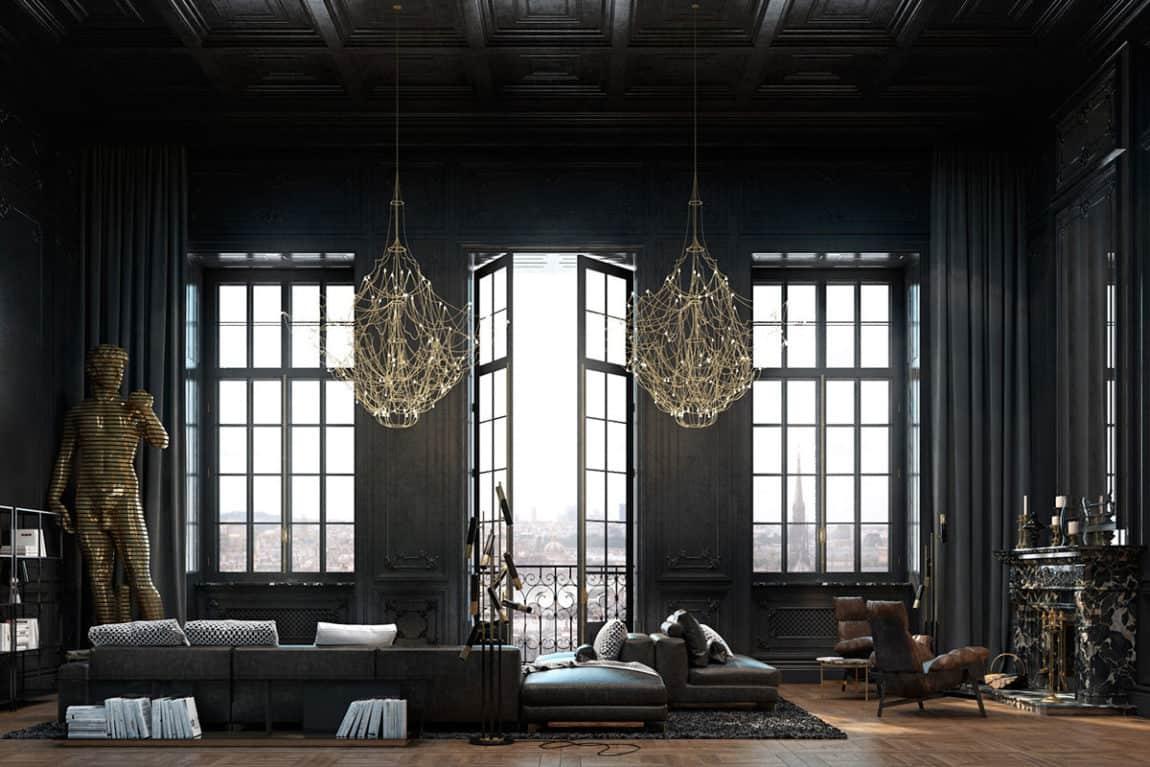 Paris Apartment by Iryna Dzhemesiuk & Vitaly Yurov (3)