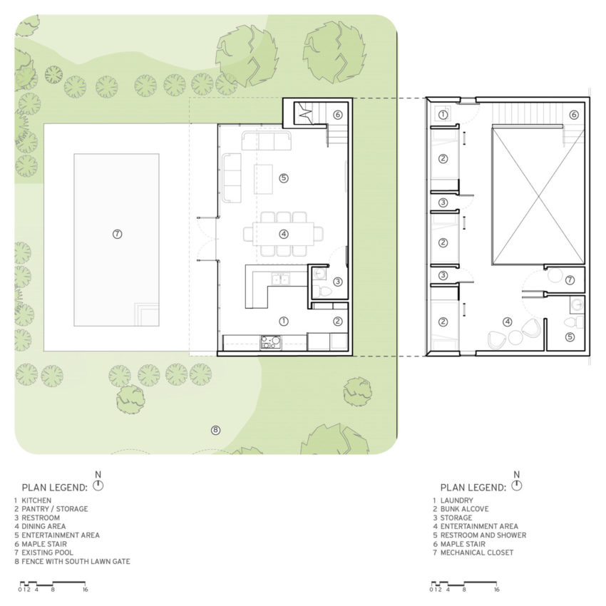 Good View in gallery Srygley Pool House by Marlon Blackwell Architect Floor Plan