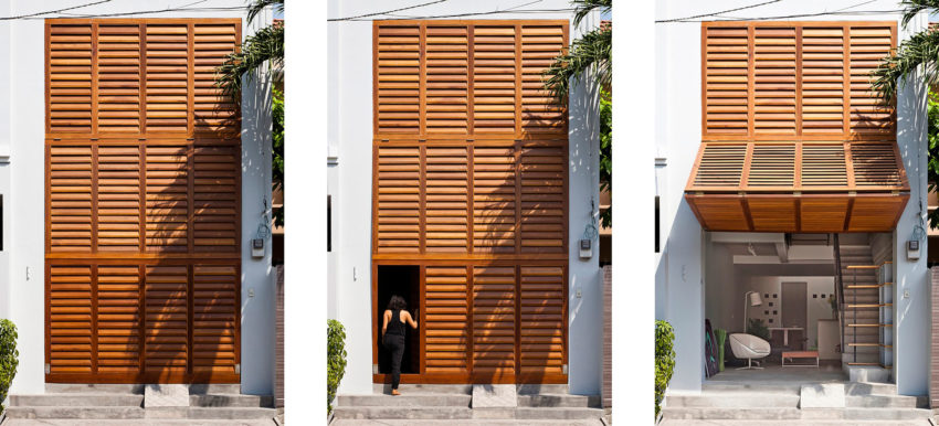 Townhouse with a Folding-Up Shutter by MM++ architects (4)