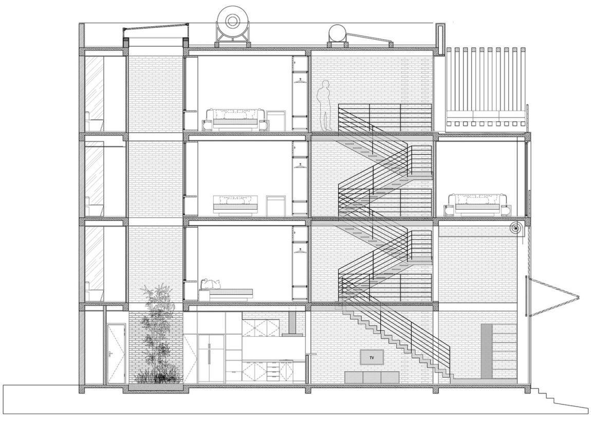 Townhouse with a Folding-Up Shutter by MM++ architects (24)
