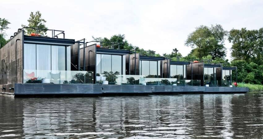 Agaligo Studio Designs Floating Homes on the River Kwai
