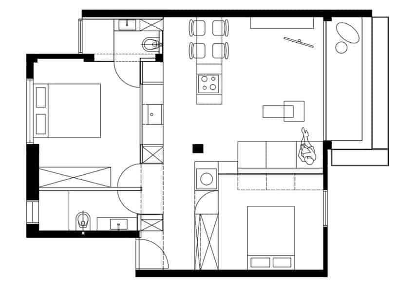 Apartment in Tel Aviv by Mayan Studio (14)