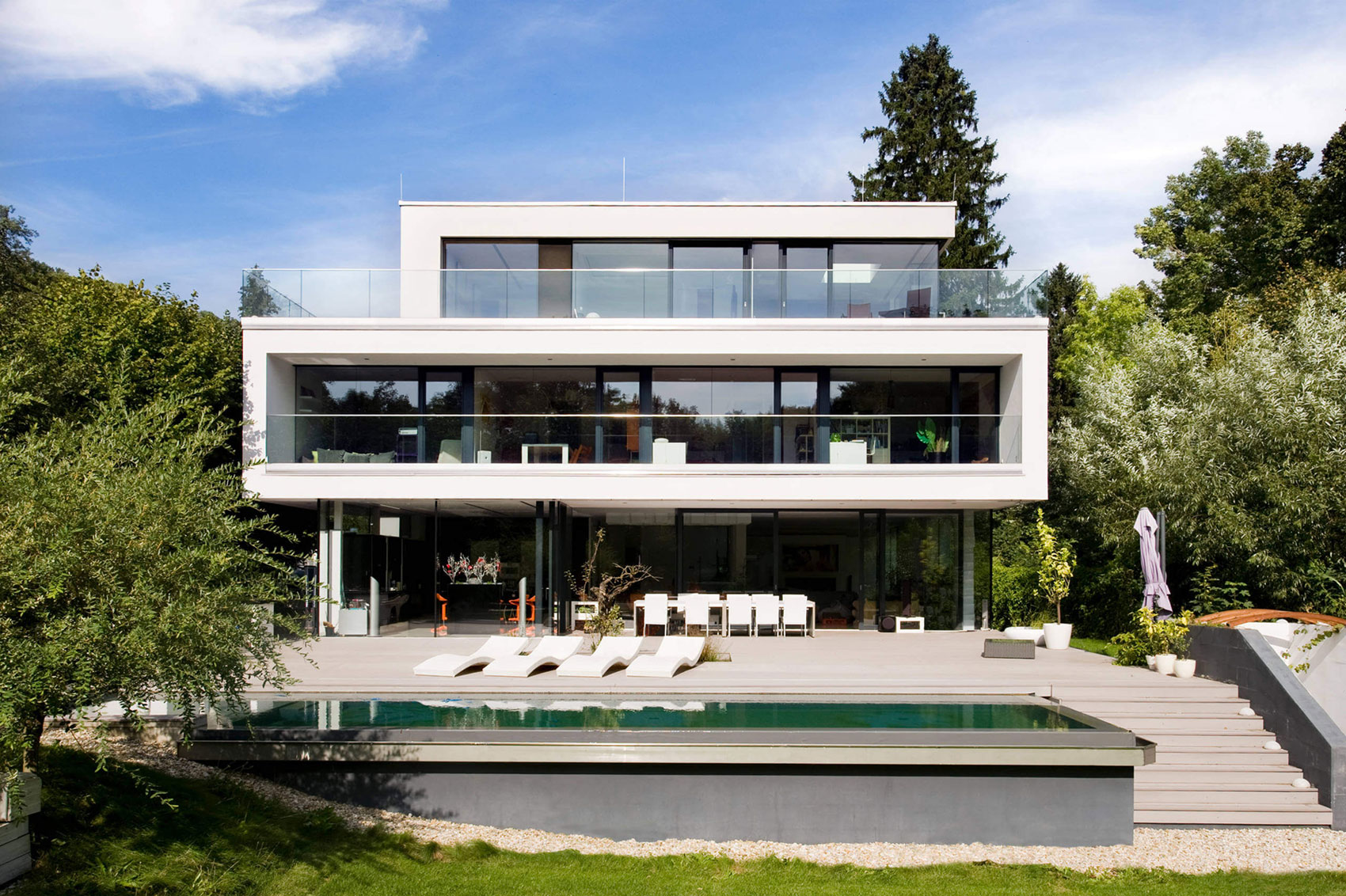 Wunschhaus Architektur Design a Contemporary House in Hinterbrhl