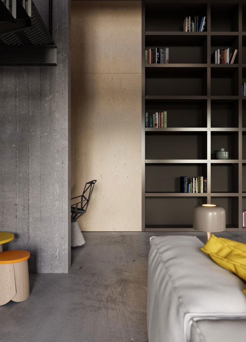 Industrial Style Apartment in Kiev by Ruslan Kovalchuk (9)